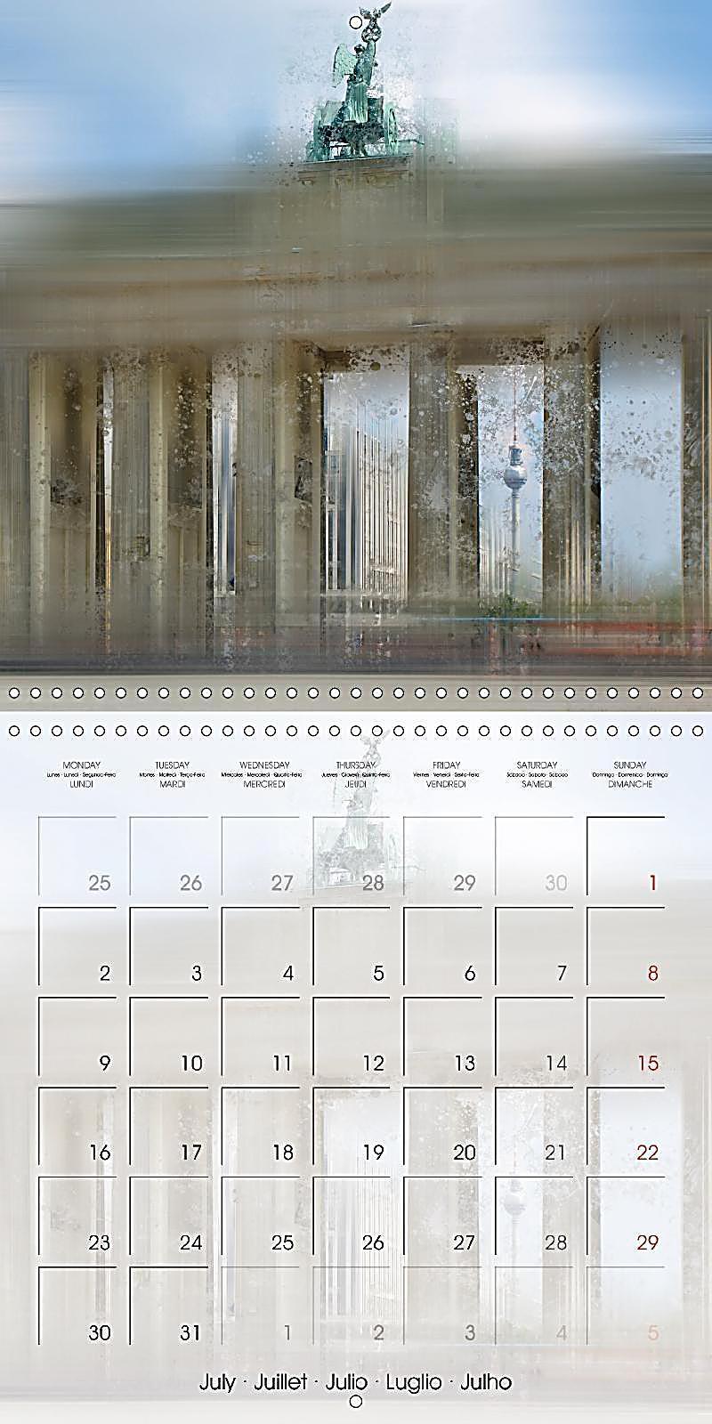 Art Calendar Berlin : Digital art berlin wall calendar mm square
