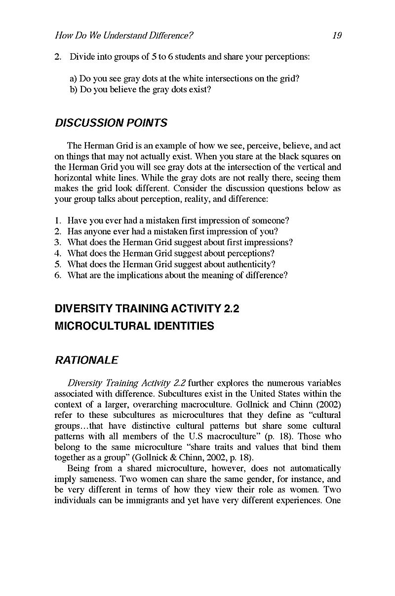 diversity training manual Diversity training can be defined as any program designed to facilitate positive intergroup interaction, reduce prejudice and discrimination, and generally teach.
