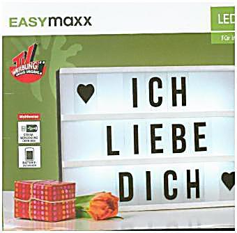 Easymaxx led leuchtkasten 9v schwarz wei mit 173 - Leuchtkasten deko ...