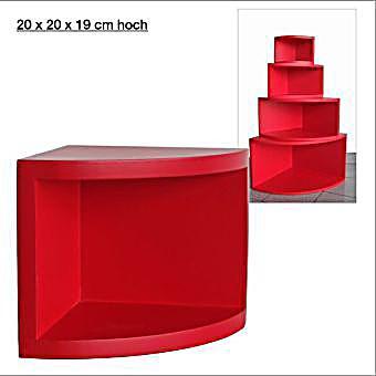 eck regal matt rot 20 x 20 cm jetzt bei. Black Bedroom Furniture Sets. Home Design Ideas