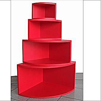 eck regal matt rot 4er set jetzt bei bestellen. Black Bedroom Furniture Sets. Home Design Ideas