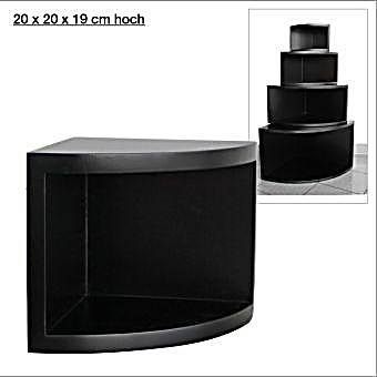 eck regal matt schwarz 20 x 20 cm bestellen. Black Bedroom Furniture Sets. Home Design Ideas