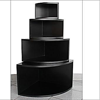 eck regal matt schwarz 4er set jetzt bei bestellen. Black Bedroom Furniture Sets. Home Design Ideas