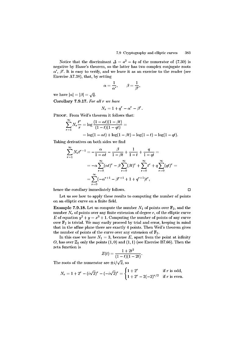 Number theory applications in cryptography