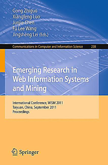 web mining research papers 2011 This paper presents the three components of web mining: web usage mining, web structure mining and web content mining and the main data preprocessing tasks for istrate mihai, 2011 web mining techniques for e-commerce, ovidius university annals, economic sciences series, ovidius university of constantza,.