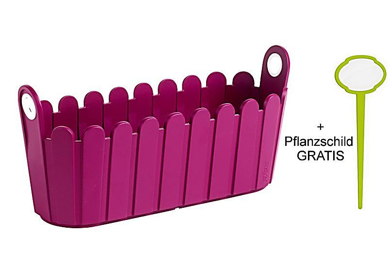 emsa jardiniere pink plus landhaus pflanzschild. Black Bedroom Furniture Sets. Home Design Ideas