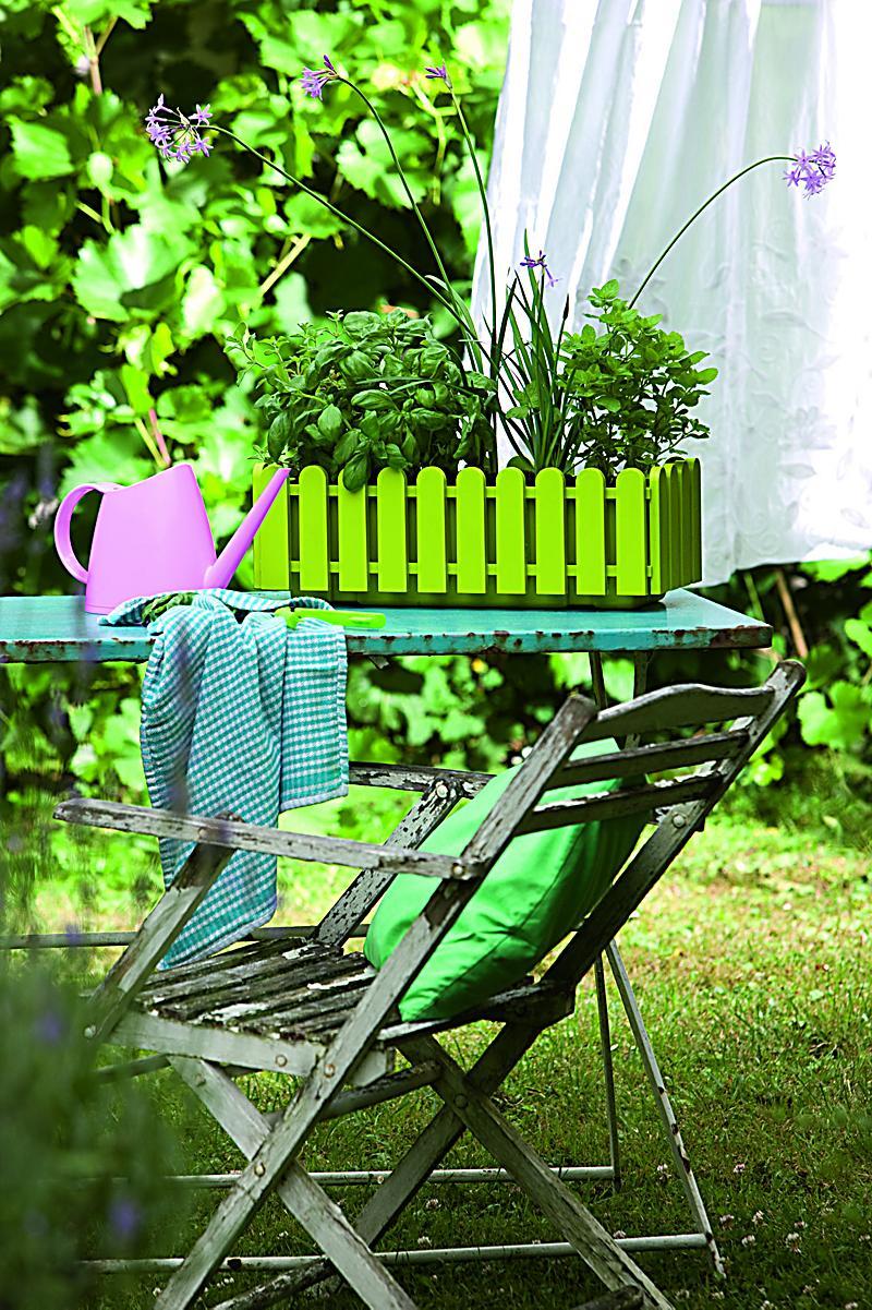 Emsa landhaus blumenkasten 50 cm gr n 1 st ck ohne deko - Blumenkasten deko ...