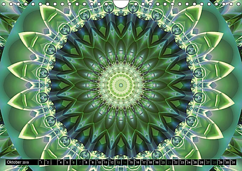 energie mandalas in gr n erneuerung durch die farbe gr n wandkalender 2018 din a4 quer. Black Bedroom Furniture Sets. Home Design Ideas