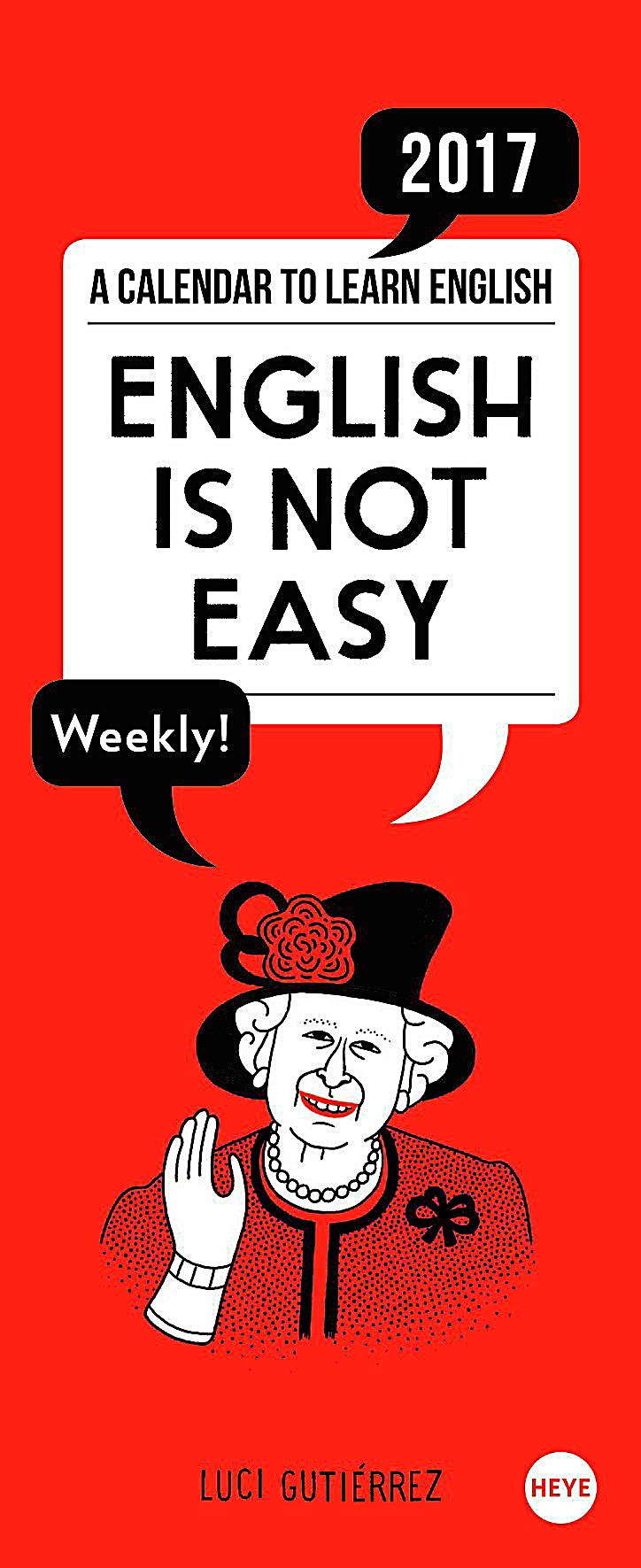 English is not easy Wochenkalender 2017 - Kalender bestellen