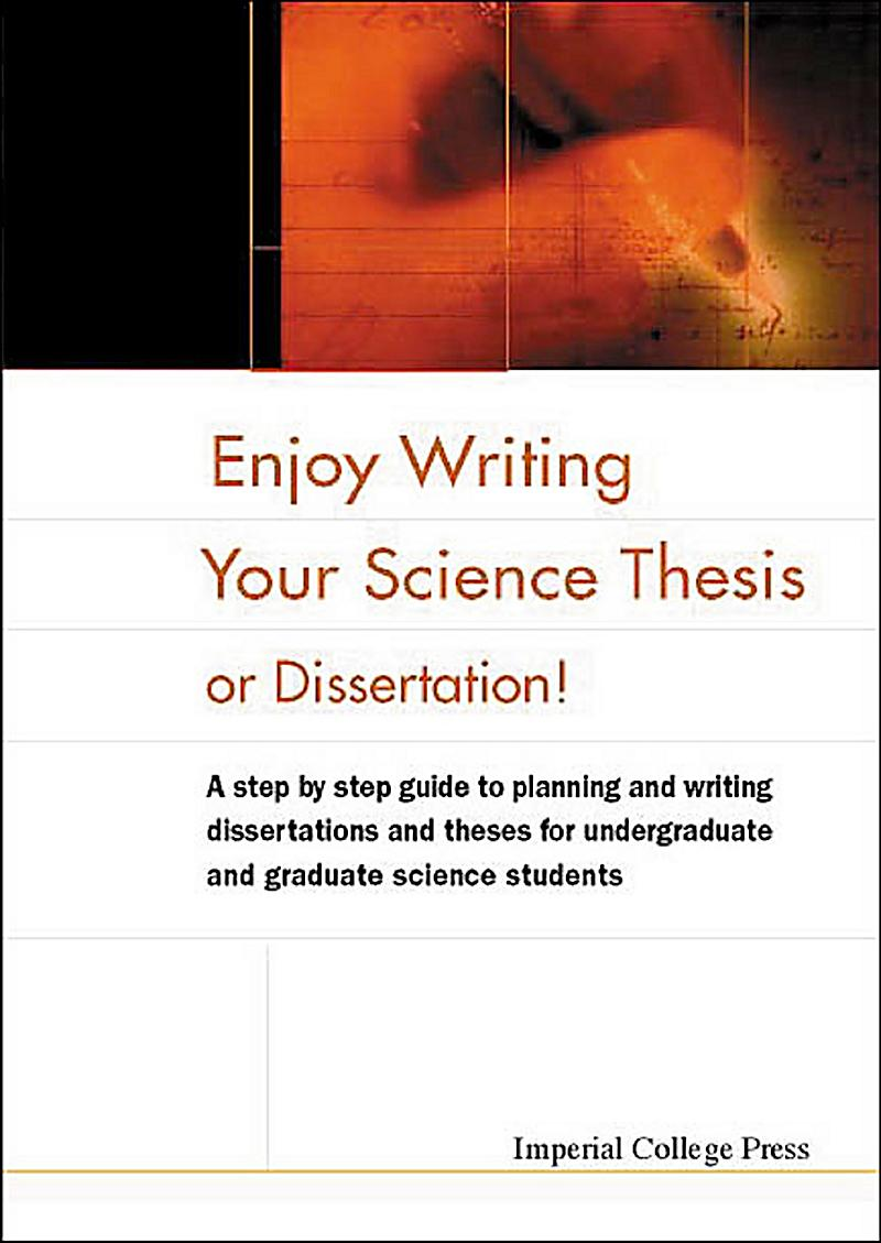 science thesis writing Scientific style  suggestions for writing science well abound -- we have a couple of sources cited in the readings what these sources have in common are certain approaches to writing with which not all scientists readily agree.