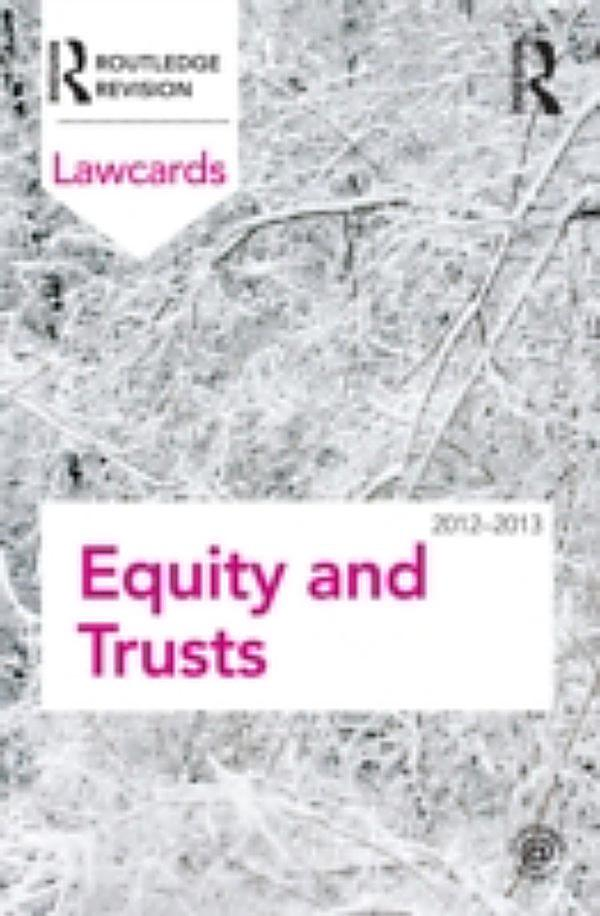equity trusts Equity and the law of trusts twelfth edition philip h pettit an exceptionally in-depth and thorough account of equity and trusts law, providing everything the.
