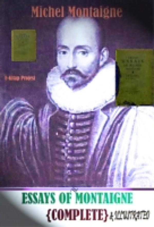 Montaigne essays pdf