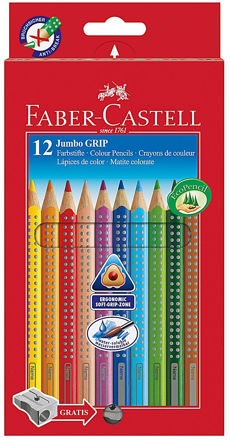 faber castell jumbo grip 12 farbstifte und spitzer. Black Bedroom Furniture Sets. Home Design Ideas