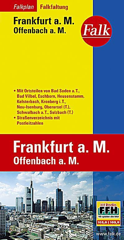 falk plan frankfurt a m offenbach a m falkfaltung buch. Black Bedroom Furniture Sets. Home Design Ideas