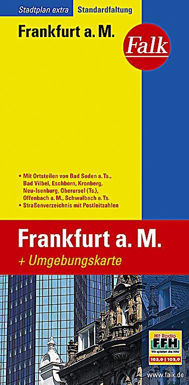 Falk stadtplan extra standardfaltung frankfurt am main buch for Lagerverkauf frankfurt