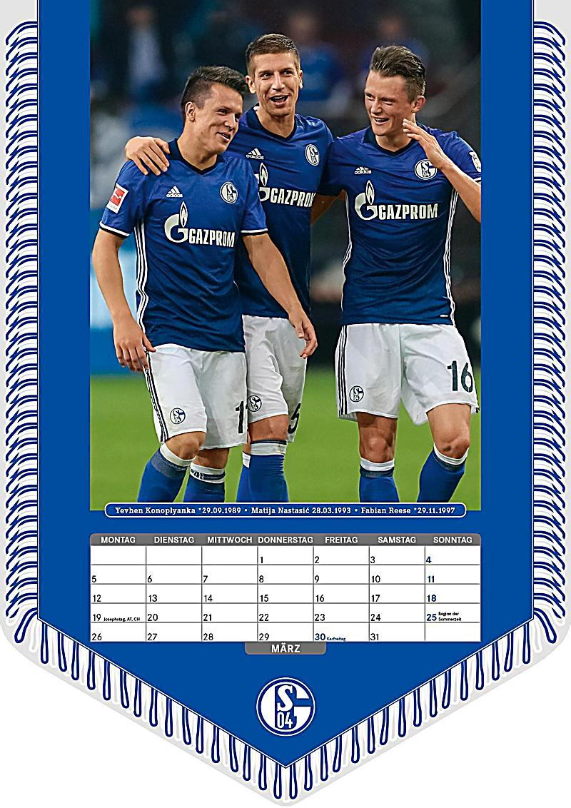 fc schalke 04 2018 kalender g nstig bei. Black Bedroom Furniture Sets. Home Design Ideas