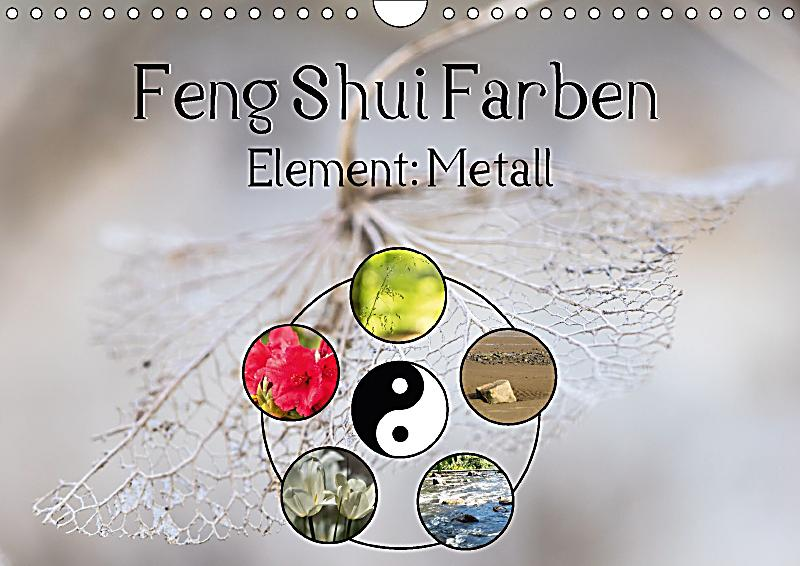 feng shui farben element metall wandkalender 2018 din a4. Black Bedroom Furniture Sets. Home Design Ideas