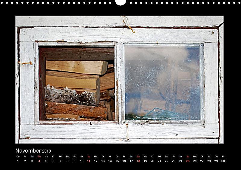 Fenster aus holz wandkalender 2018 din a3 quer kalender for Fenster quer