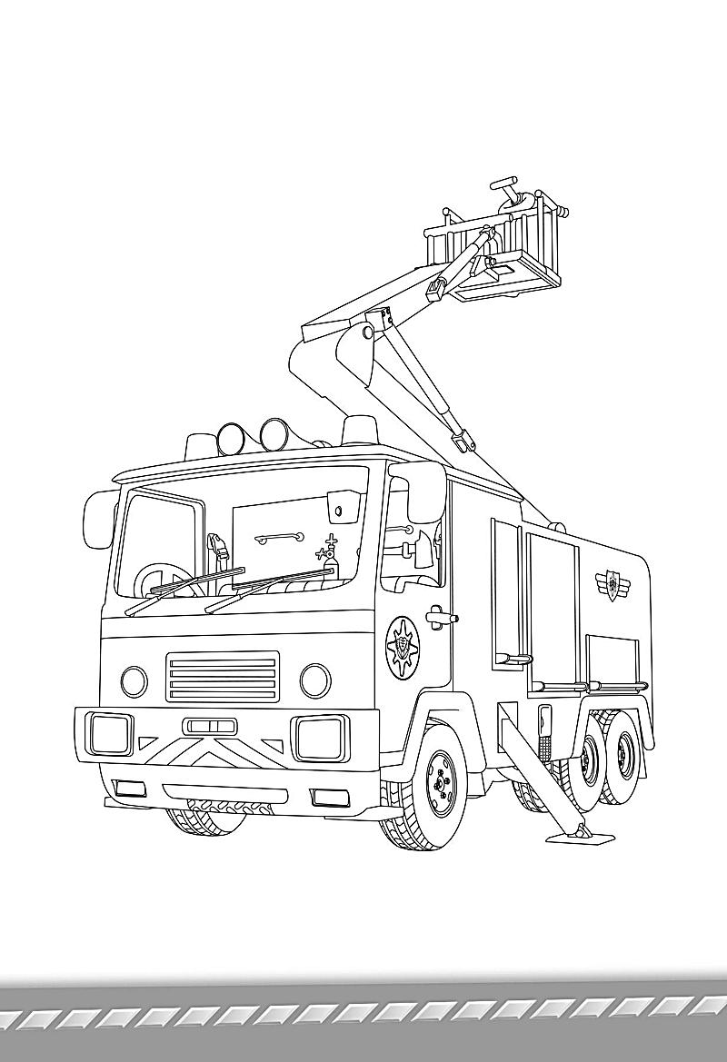 Feuerwehr Sam Ausmalbilder : Gro Z Gig Feuerwehrmann Sam Bastelvorlage Fotos Malvorlagen Von