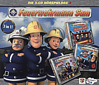 feuerwehrmann sam h rspielbox 3 audio cds h rbuch. Black Bedroom Furniture Sets. Home Design Ideas