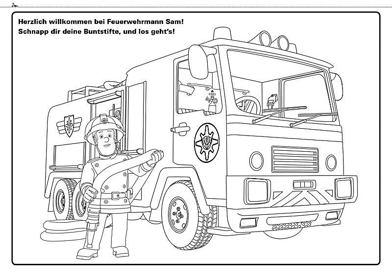 Feuerwehrmann Sam - Riesenmalspaß mit Feuerwehrmann Sam Buch