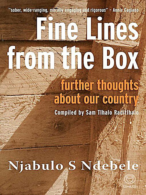 the test written by njabulo ndebele essay Prof njabulo ndebele reflects on his achievements during his inauguration   ndebele has also written a number of highly influential essays on south  much  of his letters, essays and teachings have stood the test of time and.