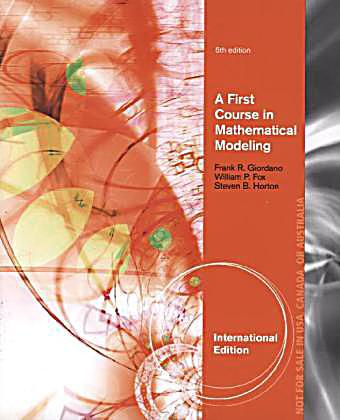 a first course in mathematical modeling giordano pdf