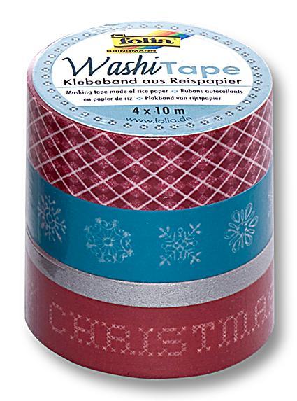folia washi tape klebeband motiv weihnachten retro. Black Bedroom Furniture Sets. Home Design Ideas