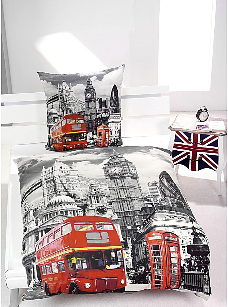 foto bettw sche london motiv london bestellen. Black Bedroom Furniture Sets. Home Design Ideas