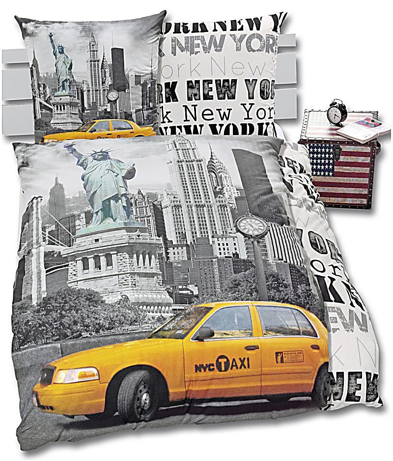 foto bettw sche new york motiv new york bestellen. Black Bedroom Furniture Sets. Home Design Ideas