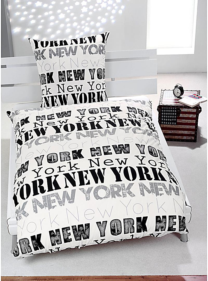 bettw sche new york motiv my blog. Black Bedroom Furniture Sets. Home Design Ideas