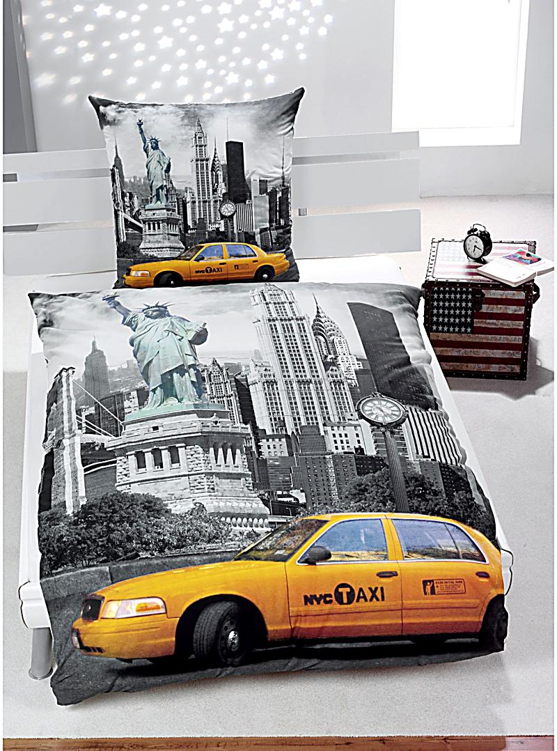 foto bettw sche new york motiv new york bestellen. Black Bedroom Furniture Sets. Home Design Ideas