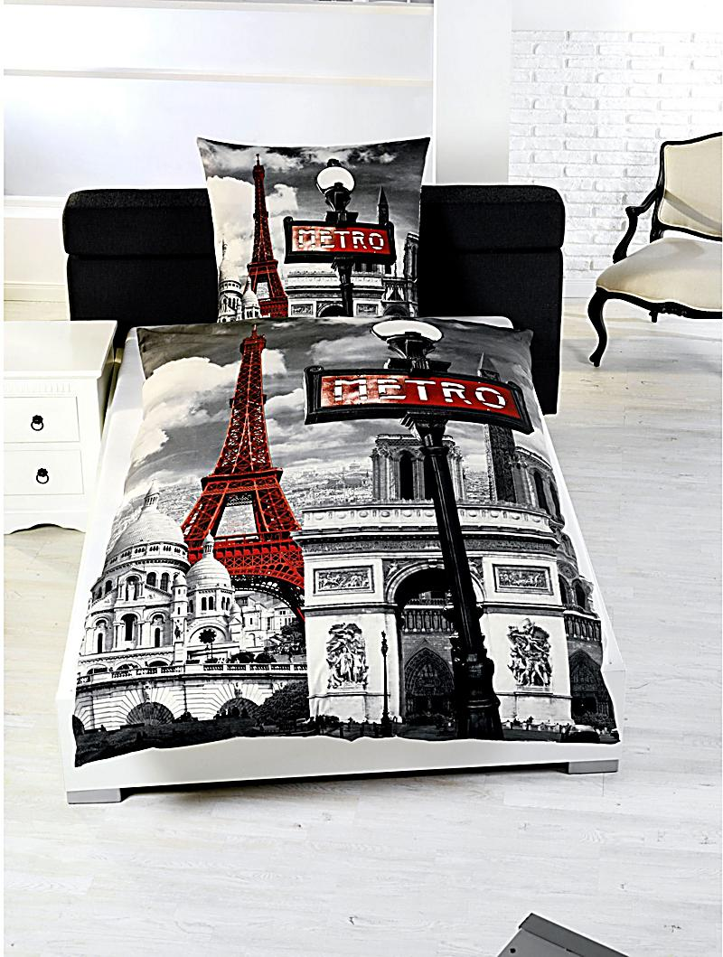 foto bettw sche paris motiv paris bestellen. Black Bedroom Furniture Sets. Home Design Ideas