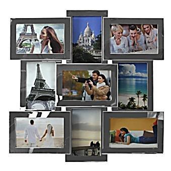fotorahmen edelstahl rahmen gl nzend f r 9 fotos. Black Bedroom Furniture Sets. Home Design Ideas