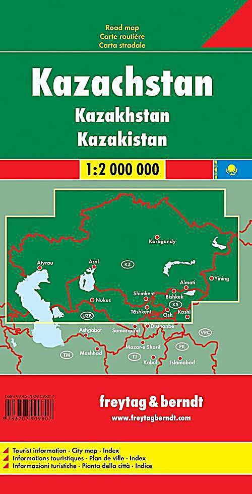 freytag berndt autokarte kasachstan kazachstan buch. Black Bedroom Furniture Sets. Home Design Ideas