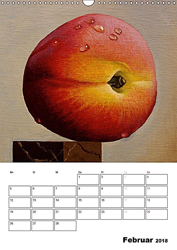 fruchtiges mit pinsel und farbe wandkalender 2018 din a3 hoch kalender bestellen. Black Bedroom Furniture Sets. Home Design Ideas