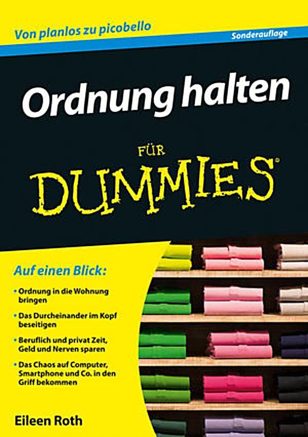 f r dummies ordnung halten f r dummies ebook. Black Bedroom Furniture Sets. Home Design Ideas