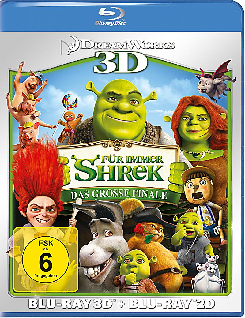 f r immer shrek 3d version blu ray bei kaufen. Black Bedroom Furniture Sets. Home Design Ideas