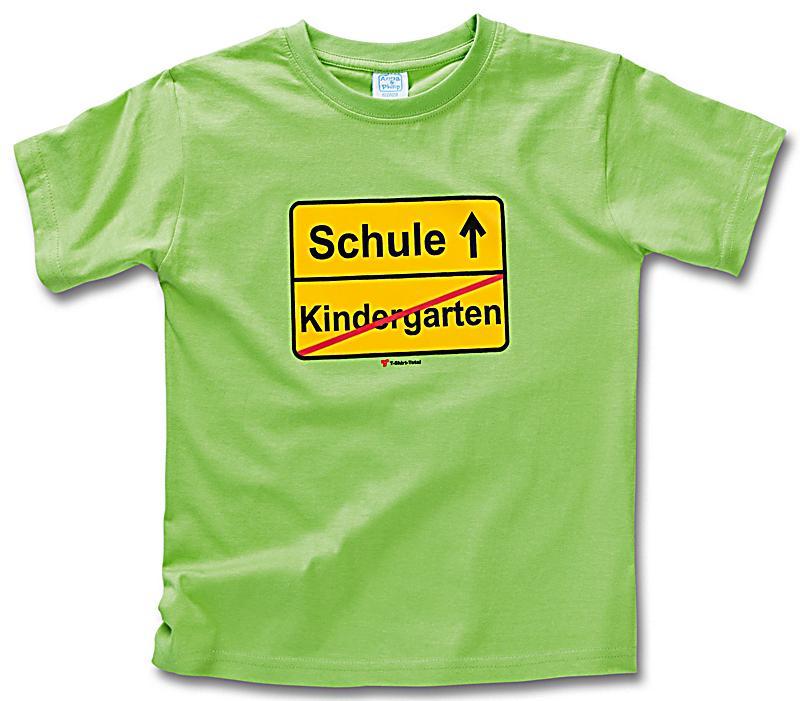 fun shirt kindergarten schule hellgr n gr sse 134 140. Black Bedroom Furniture Sets. Home Design Ideas
