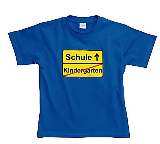 fun shirt kindergarten schule royalblau gr sse 110 116. Black Bedroom Furniture Sets. Home Design Ideas