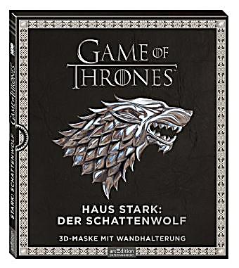 game of thrones haus stark schattenwolf 3d maske mit wandhalterung. Black Bedroom Furniture Sets. Home Design Ideas