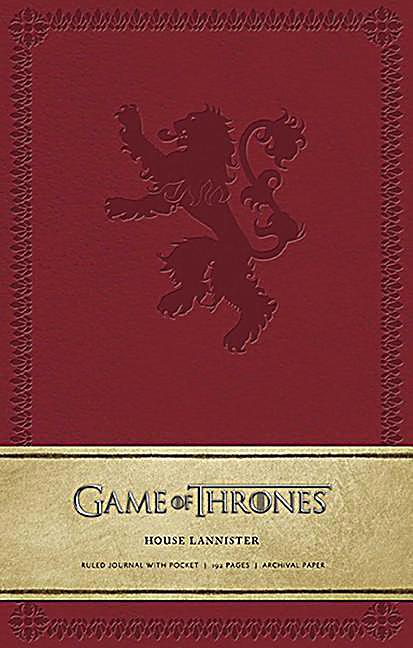 game of thrones house lannister hardcover ruled journal. Black Bedroom Furniture Sets. Home Design Ideas