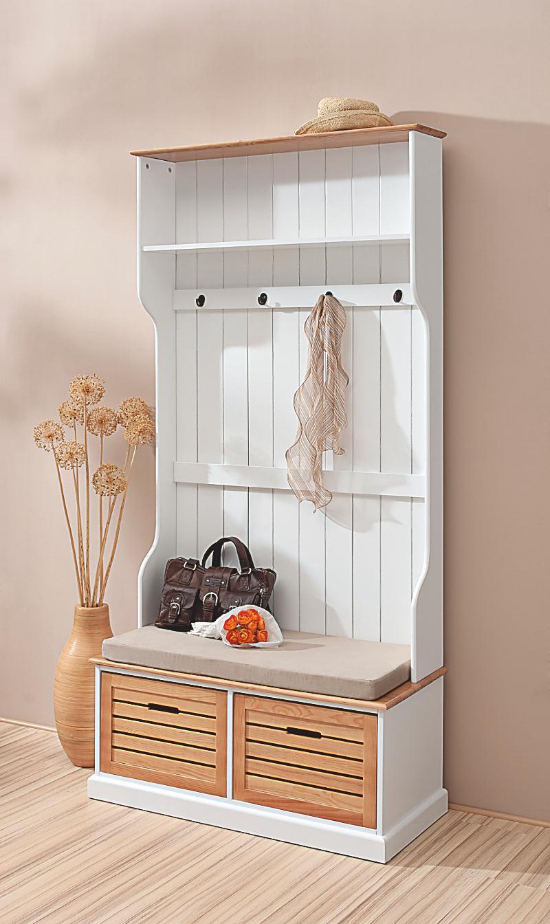 Garderobe mit sitzbank jetzt bei bestellen for Sitzbank garderobe