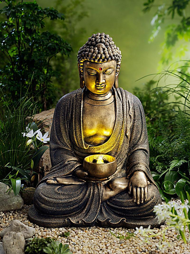 Gartenbrunnen buddha mit leds jetzt bei bestellen - Gartenbrunnen buddha ...