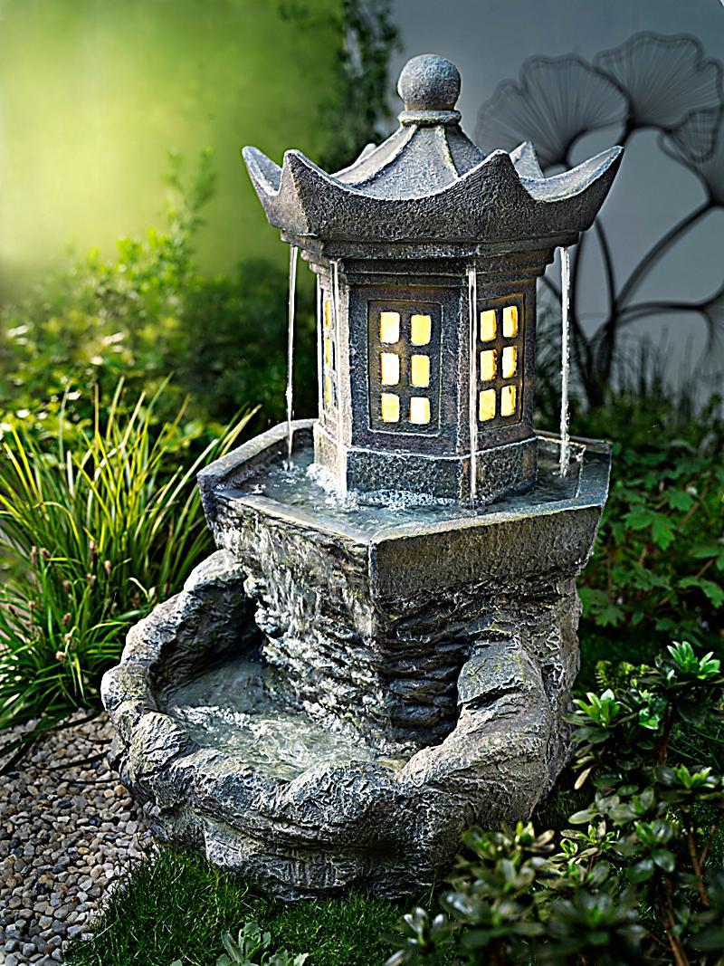 Gartenbrunnen pagode jetzt bei bestellen for Deko gartenbrunnen