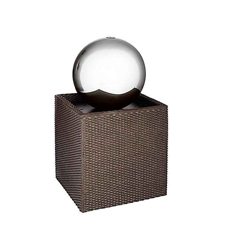 gartenbrunnen rattan mit led beleuchtung bestellen. Black Bedroom Furniture Sets. Home Design Ideas