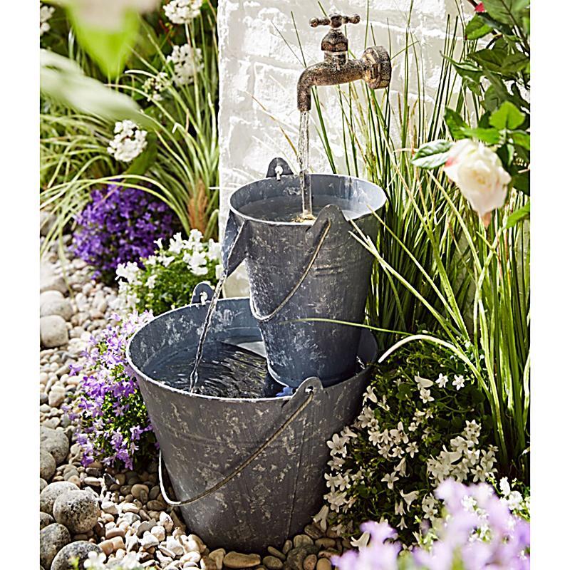 Gartenbrunnen zinkeimer jetzt bei bestellen for Deko gartenbrunnen