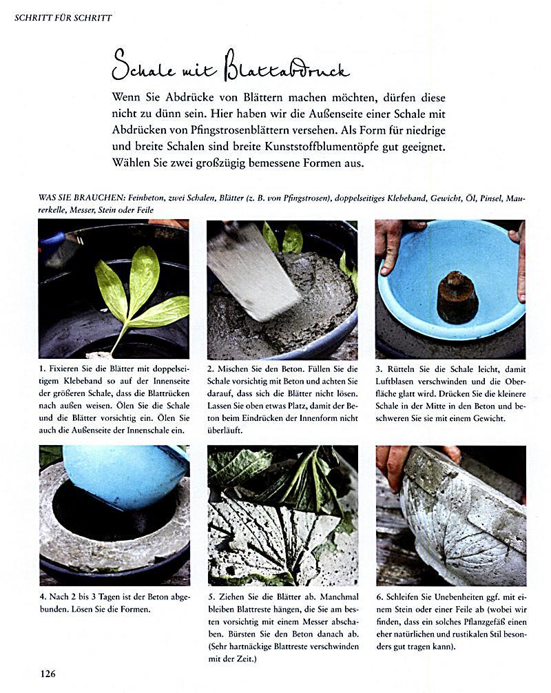 gartendeko aus beton selbstgemacht portofrei weltbild