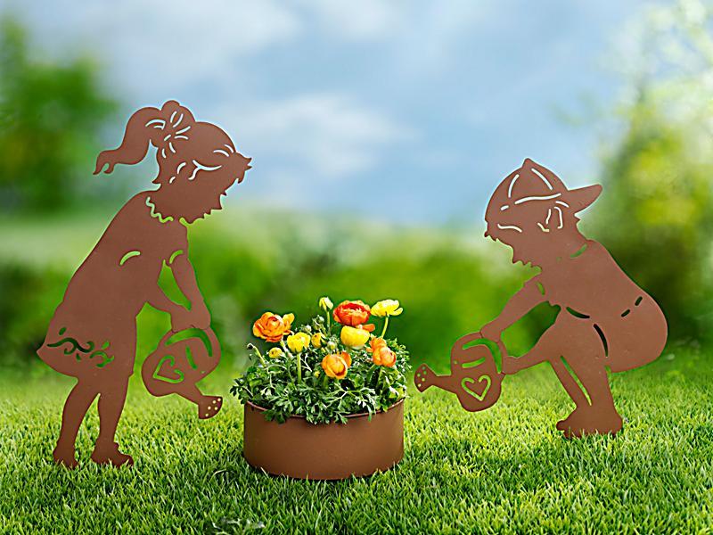 Gartendeko mit pflanztopf 3 teiliges set bestellen for Sale gartendeko