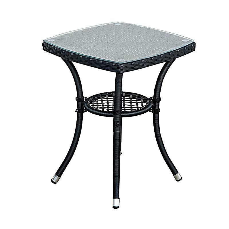 gartenm bel als 3 teiliges set farbe schwarz creme. Black Bedroom Furniture Sets. Home Design Ideas